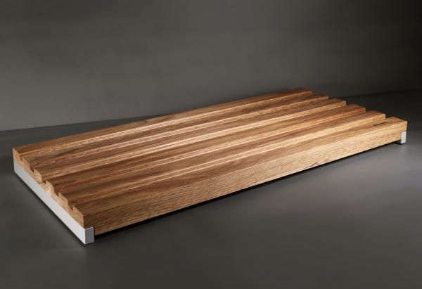 Mitheis Quadrem Großes Brotschneidbrett Eiche-Aluminium 58x62 1562