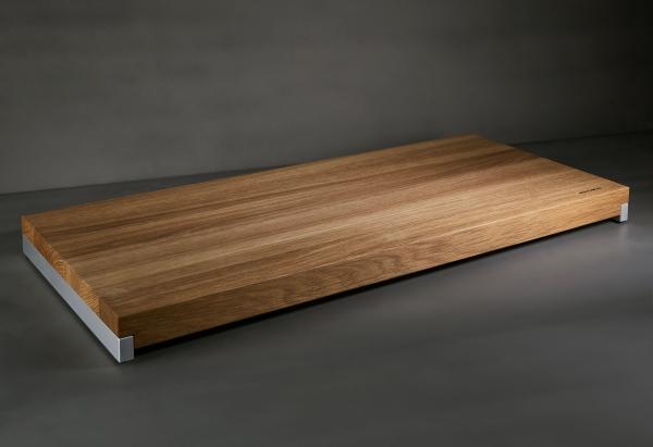 Mitheis Quadrem Großes Schneidbrett Eiche-Aluminium 59x26 1542